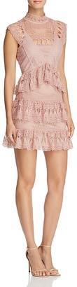 AQUA Lace Mock Neck Dress $98 thestylecure.com