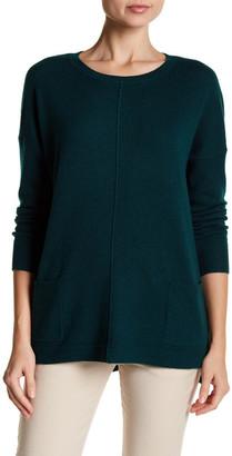 Catherine Catherine Malandrino Front Seam Hi-Lo Cashmere Pullover $198 thestylecure.com