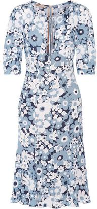 Michael Kors Collection - Floral-print Silk-georgette Dress - Sky blue $1,950 thestylecure.com
