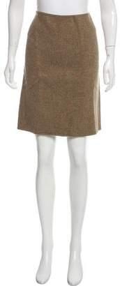 Massimo Alba Patterned Wool Skirt w/ Tags