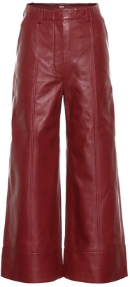 Dodo Bar Or High-rise wide-leg leather pants