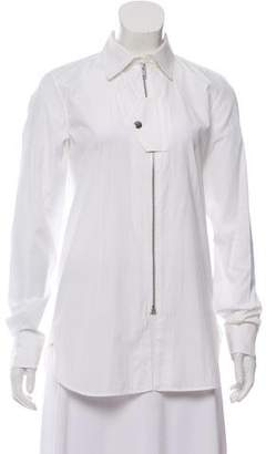 Celine Collared Zip-Up Top w/ Tags