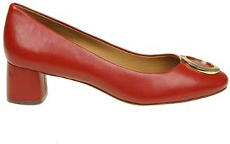 Tory Burch caterina Ballerina In Red Leather
