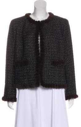 Chanel Mink Fur-Trimmed Tweed Jacket