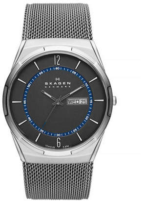 Skagen Melbye Steel Mesh and Titanium Case Multifunction Watch
