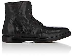 Elia Maurizi MEN'S TUMBLED LEATHER SIDE-ZIP BOOTS