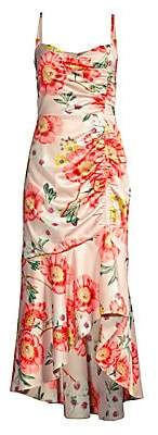 Parker Black Women's Adriana Floral High-Low Midi Dress