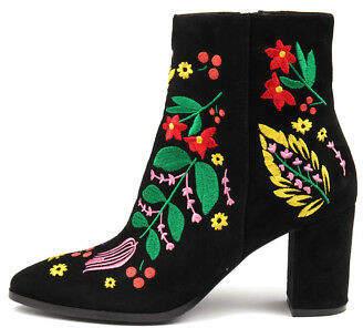 Django & Juliette New Amato Black Bright Em Womens Shoes Dress Boots Ankle