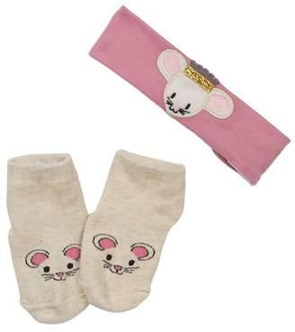 Jessica Simpson Bunny Headband & Socks Set (Baby Girls)