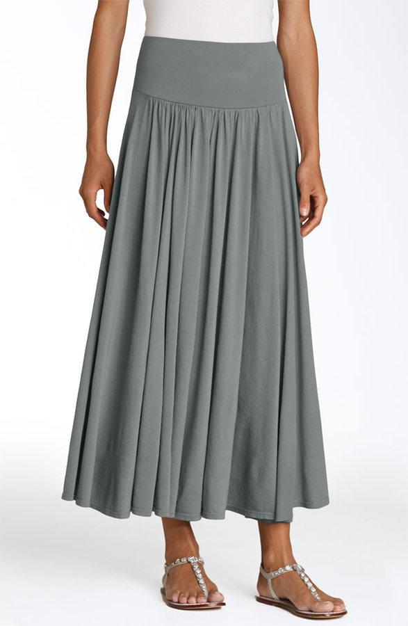 Three Dots 'Colette' Long Jersey Skirt