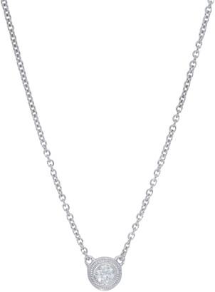 Nephora Diamond Trend 14K White Gold Round Diamond Pendant Necklace