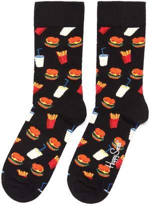 Happy Socks 'Hamburger' intarsia socks
