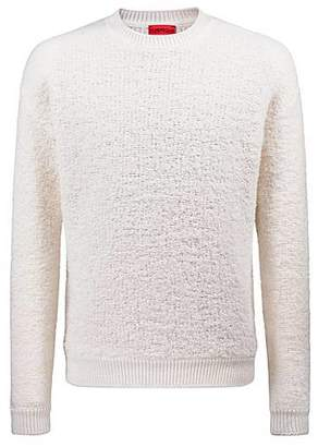 HUGO BOSS Oversized shearling-effect bouclé sweater with chunky ribbing