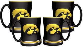 NCAA Kohl's Iowa Hawkeyes 4-pk. Sculpted Relief Mug