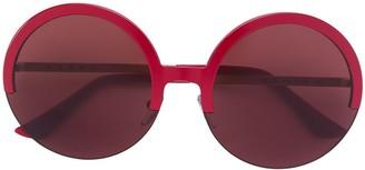 Marni Eyewear round half frame sunglasses