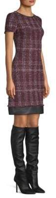St. John Flecked Tweed Shift Dress