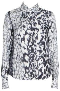 Victoria Beckham Women's Silk Abstract Print Shirt - Size UK 8 (4)