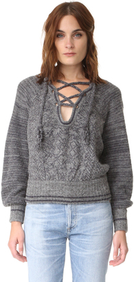 Free People Hoops & Hollas Sweater $168 thestylecure.com