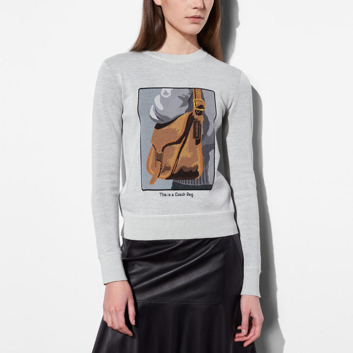 Coach   COACH Coach Crewneck With Archive Intarsia