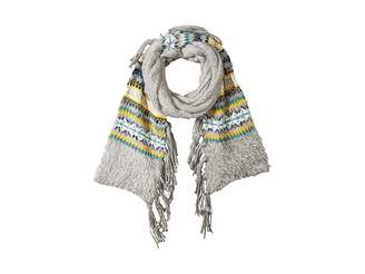 BCBGeneration Border Fairisle Long Skinny Scarf Scarves