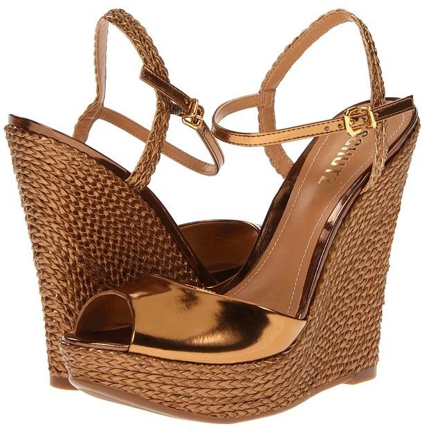 Schutz Antonella (Bronze Spechio) - Footwear