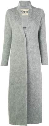 Herno long textured coat