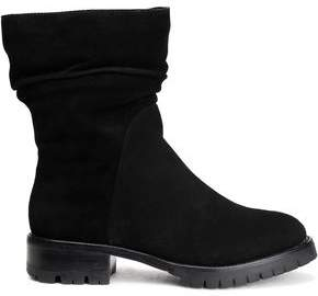 DKNY Shearling-Lined Suede Ankle Boots