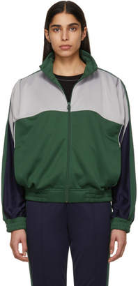 Nike Grey and Green Martine Rose Edition NRG K Track Jacket