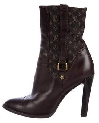 Louis Vuitton Monogram Leather Ankle Boots