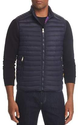 Paul Smith Quilted Down Vest with Printed Lining