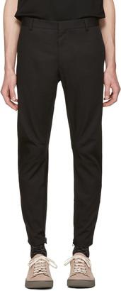 Lanvin Black Biker Chino Trousers $770 thestylecure.com