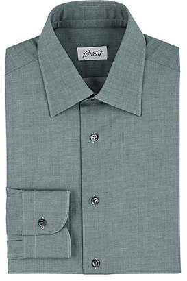 Brioni Men's Mélange Cotton Twill Shirt