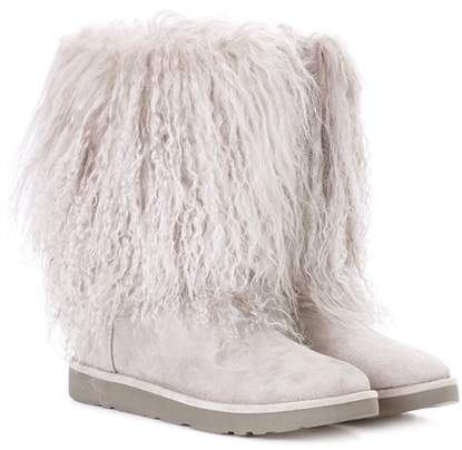 Ugg Australia Lida fur and suede ankle boots