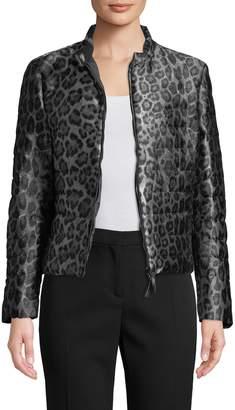 Armani Collezioni Women's Leopard Print Coat