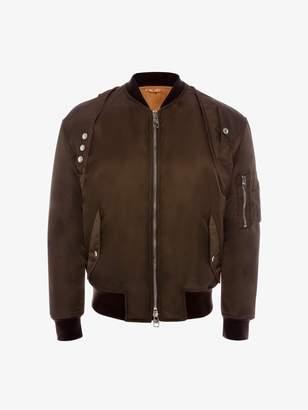 Alexander McQueen Aviator Harness Bomber Jacket