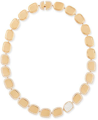 Roberto Coin 18k Rose Gold Diamond African Jade Collection Necklace