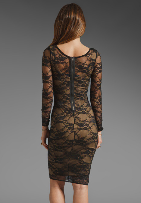 Bailey 44 Extra Credit Dress in Black/Camel
