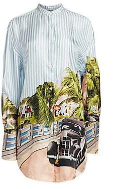 Monse Women's Scenic Print Shirt