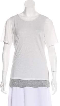 Vince Layered Short Sleeve Top