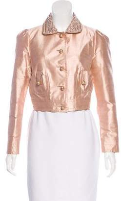 Blumarine Embellished Silk Jacket