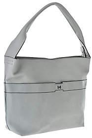 Halston H by Pebble & Saffiano Leather HoboHandbag