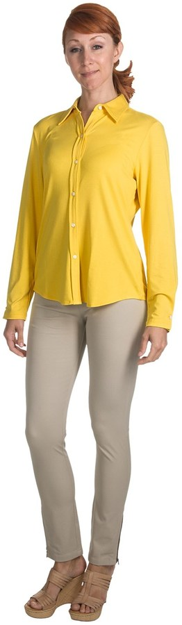 Paperwhite Button-Front Knit Shirt - Long Sleeve (For Women)