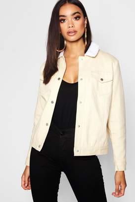boohoo Padded Oversize Coloured Denim Jacket