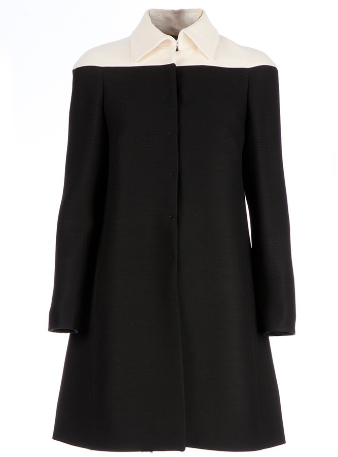 Valentino contrast A-line coat