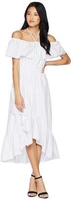BB Dakota Halsey Striped Ruffle Dress Women's Dress