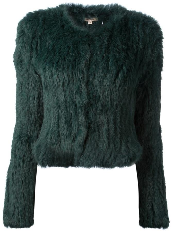 P.A.R.O.S.H. cropped fur jacket