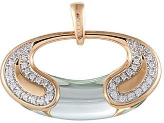 Valente Milano 18K Rose Gold 19.42 Ct. Tw. Diamond & Quartz Pendant