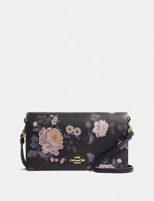 Coach Hayden Foldover Crossbody Clutch With Garden Rose Print