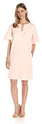Lark & Ro Women's Drop Shoulder Ruffle Sleeve Shift Dress