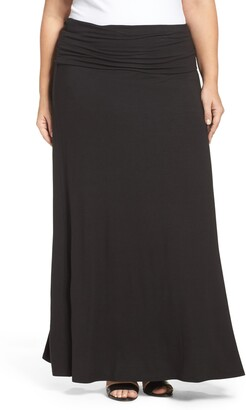 Loveappella Fold Over Maxi Skirt